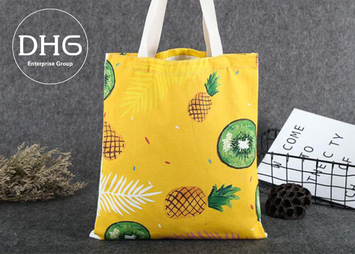 Promotional Colored Screen Printed Canvas Bags Soft Damp Proof Brearhable